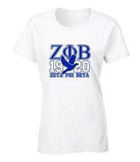 Zeta Phi Beta 2 Day Ship 1920 Tee