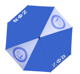 "Zeta Phi Beta 30"" Wind Resistant Auto Open Umbrella"