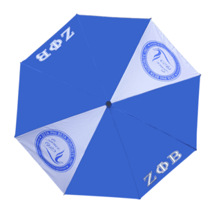 "Zeta Phi Beta 30"" Wind Resistant Auto Open Umbrella"