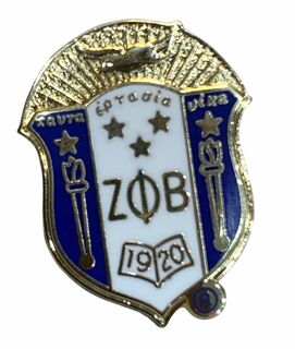 Zeta Phi Beta 3D Color Shield Pin