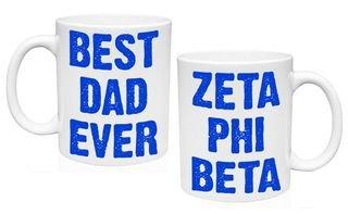 Zeta Phi Beta Best Dad Ever Coffee Mug