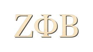 Zeta Phi Beta Big Wooden Greek Letters