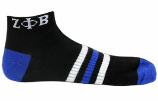 Zeta Phi Beta Black Ankle Socks