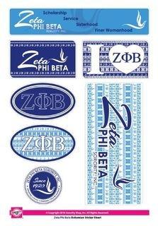 Zeta Phi Beta Bohemian Stickers