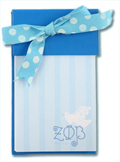 Zeta Phi Beta Bow Notepad