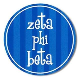 "Zeta Phi Beta Bumper Stickers 4"" Round"