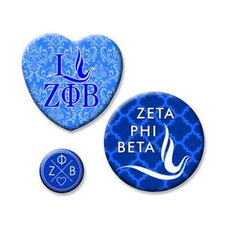 Zeta Phi Beta Button Set