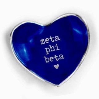 Zeta Phi Beta Ceramic Ring Dish