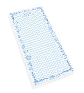 Zeta Phi Beta Chevron Long Notepad