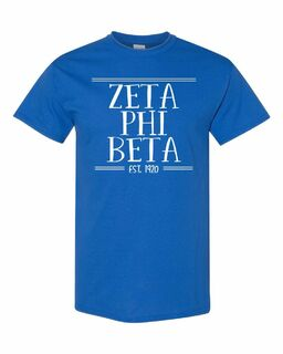 Zeta Phi Beta Comfort Colors Custom Heavyweight T-Shirt