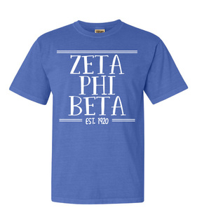 Zeta Phi Beta Comfort Colors Established Heavyweight T-Shirt