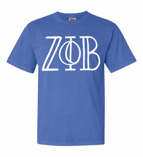 Zeta Phi Beta Comfort Colors Heavyweight Design T-Shirt