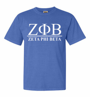 Zeta Phi Beta Comfort Colors Heavyweight T-Shirt