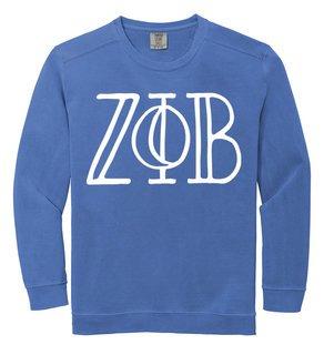 Zeta Phi Beta Comfort Colors Greek Crewneck Sweatshirt