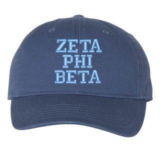 Zeta Phi Beta Comfort Colors Pigment Dyed Baseball Cap