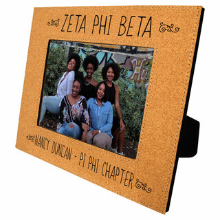 Zeta Phi Beta Cork Photo Frame