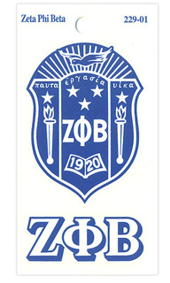 Zeta Phi Beta Crest - Shield Decals