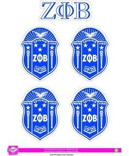 Zeta Phi Beta Crest Sticker Sheet