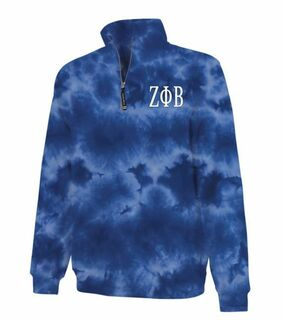Zeta Phi Beta Crosswind Tie-Dye Quarter Zip Sweatshirt
