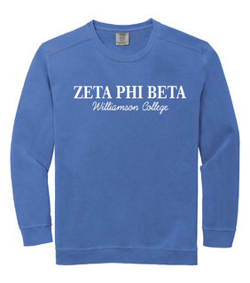 Zeta Phi Beta Script Comfort Colors Greek Crewneck Sweatshirt
