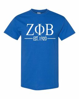 Zeta Phi Beta Custom Greek Lettered Short Sleeve T-Shirt
