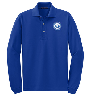 DISCOUNT-Zeta Phi Beta Emblem Long Sleeve Polo