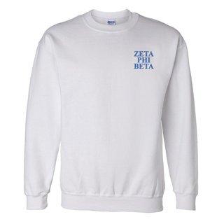 Zeta Phi Beta Embroidered Name Crewneck
