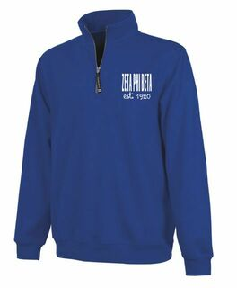 Zeta Phi Beta Established Crosswind Quarter Zip Sweatshirt