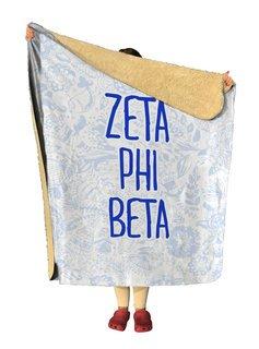 Zeta Phi Beta Floral Sherpa Lap Blanket