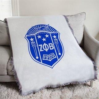 Zeta Phi Beta Full Color Crest Afghan Blanket Throw