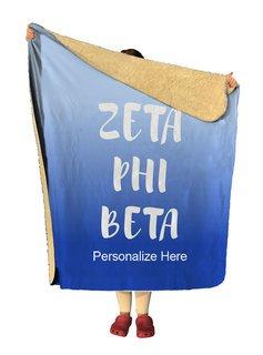 Zeta Phi Beta Gradient Sherpa Lap Blanket