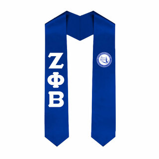 Zeta Phi Beta Greek Lettered Graduation Sash Stole With Since 1920 Shield