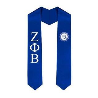 Zeta Phi Beta Greek Lettered Graduation Sash Stole With Since 1920 Shield