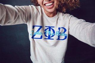 Zeta Phi Beta Greek Type Crewneck Sweatshirt