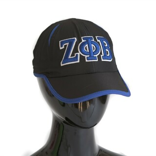 Zeta Phi Beta Hat - Black Featherlight Cap