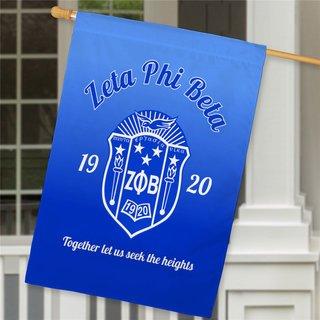Zeta Phi Beta House Flag