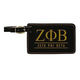 Zeta Phi Beta Leatherette Luggage Tag