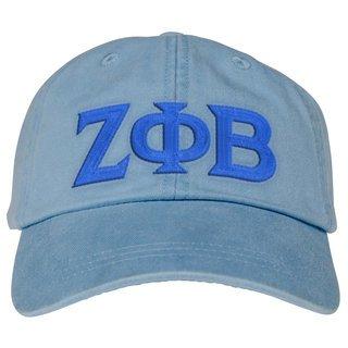 Zeta Phi Beta Lettered Premium Pastel Hat