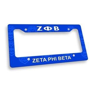 Zeta Phi Beta License Plate Frame