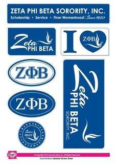Zeta Phi Beta Lifestyle Stickers