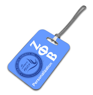 Zeta Phi Beta Luggage Tag