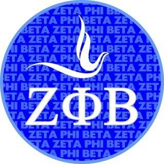 Zeta Phi Beta Mascot Round Decals