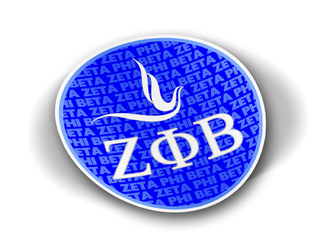 Zeta Phi Beta Mascot Round Decals