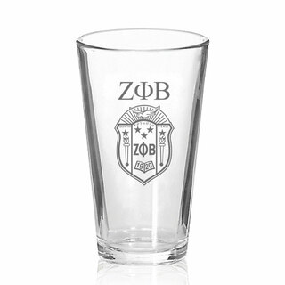 Zeta Phi Beta Mixing Glass