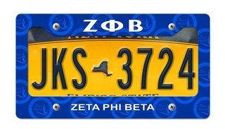 Zeta Phi Beta New License Plate Frame