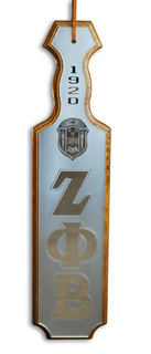 Zeta Phi Beta Paddles Mirrored