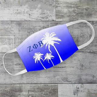 Zeta Phi Beta Palm Trees Face Mask