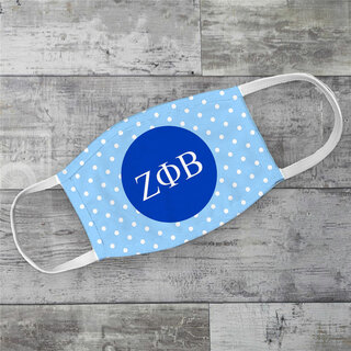Zeta Phi Beta Polka Dots Face Mask