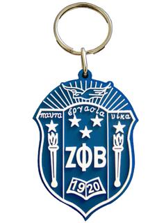 Zeta Phi Beta PVC Crest Key Chain