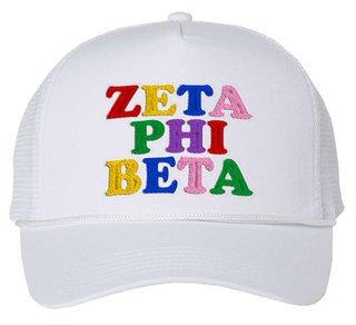 Zeta Phi Beta Rainbow Trucker Hat